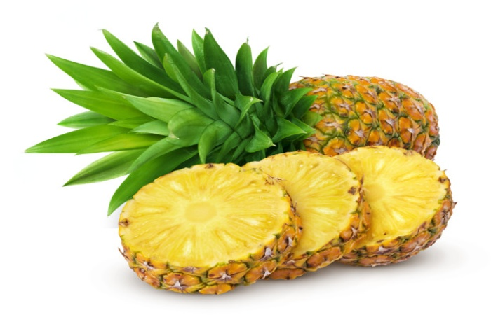 Peel And Cut The Pineapple